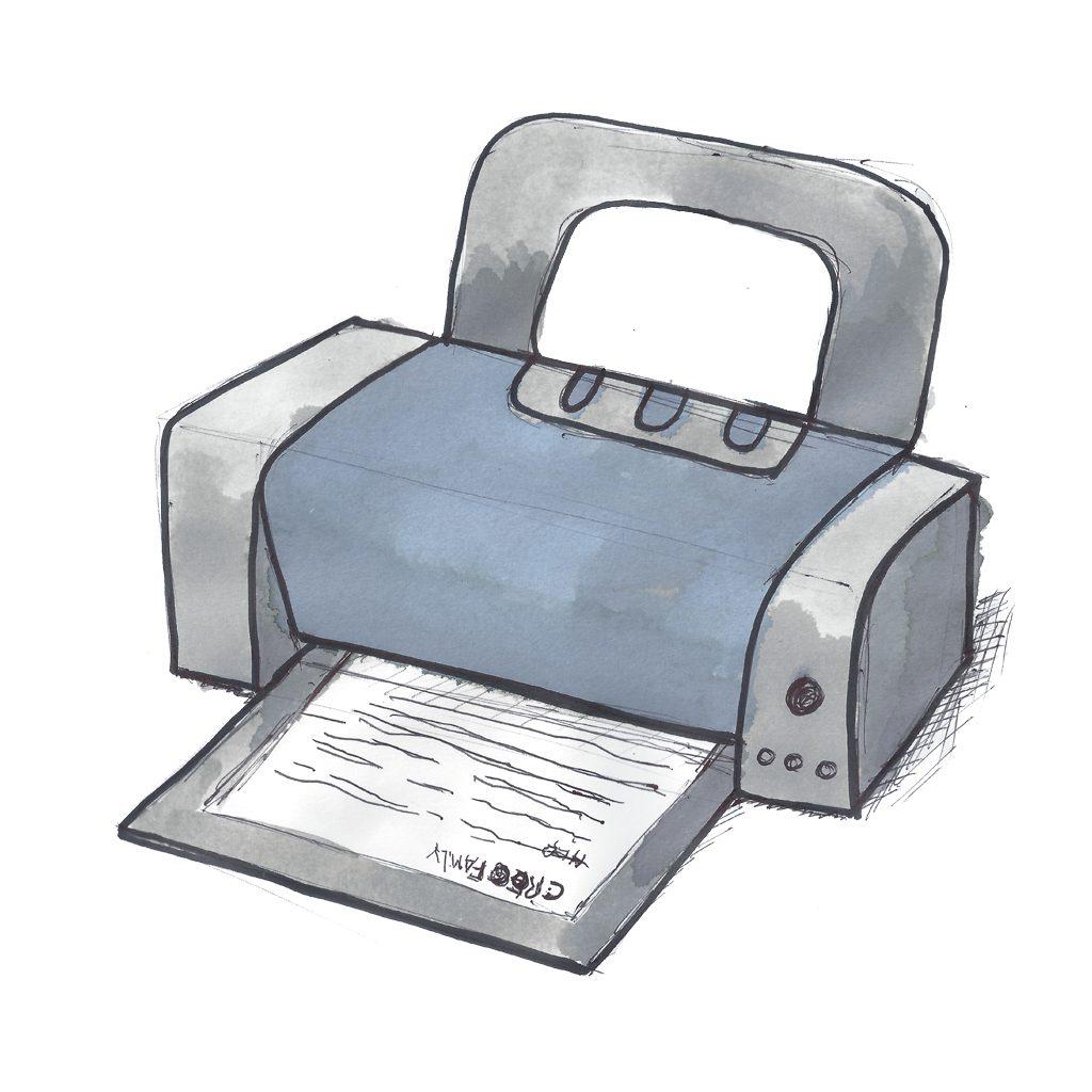 Print kreativeskabeloner med printeren