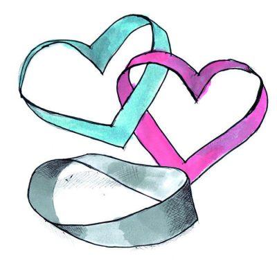Kan du lave to hjerter der sidder sammen ud af en strimmel papir