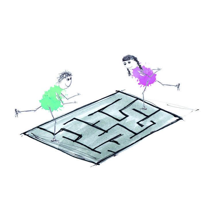 Kan du konstruere den sværeste labyrint for skøjteløberne