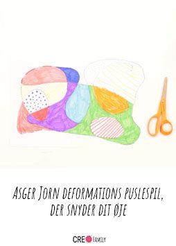 krusedulle tegning - Asger Jorn deformations puslespil, der snyder dit øje