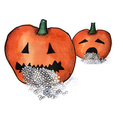 Sydende Halloween græskar
